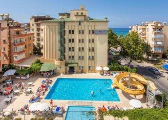 8 nap Alanyában, all inclusive ellátással, repülőjeggyel, a Kleopatra Beach**** hotelben – indulás Debrecenből