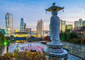12 napos körutazás 1 főre Japánban és Dél-Koreában, repülővel, reggelivel, programokkal