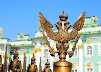 11 napos hajókirándulás Oroszországban, Szentpétervár és Moszkva között, teljes ellátással, idegenvezetéssel