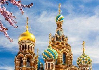 8 napos körutazás Oroszországban, Moszkvában és Szentpéterváron, reggelivel, programokkal