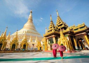 10 éjszaka Mianmarban, repülővel, helyi busszal és hajóval, félpanzióval, belépőkkel, idegenvezetéssel
