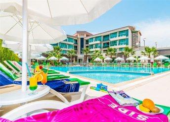 8 napos nyaralás a török riviérán, Sidében, repülőjeggyel, all inclusive ellátással, a Side Lowe Hotelben***