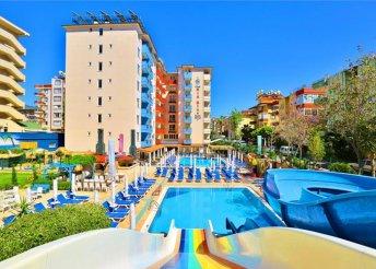 8 napos nyaralás Alanyában, repülőjeggyel, all inclusive ellátással, a Club Big Blue Suite Hotelben****