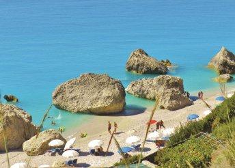 13-14 nap 2 főre Görögországban, Lefkada szigetén, Nidriben, buszos utazással, önellátással