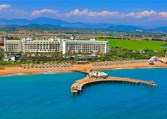 8 napos nyaralás Sidében, repülőjeggyel, ultra all inclusive ellátással, a Lyra Resort & Spában*****