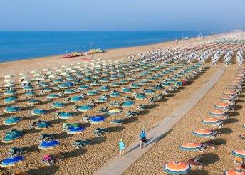 Vakáció az Adriai-tengernél, Olaszországban, Bibionéban, önellátással, az Appartamenti Betania vendégeként