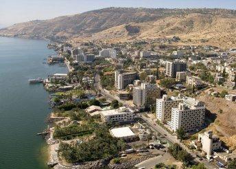 8 napos körutazás Izraelben, 3 éj Tiberiasban, 4 éj Betlehemben, reggelivel, repülőjeggyel, belépőkkel