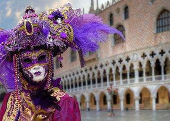 Valentin napi kirándulás a velencei karneválra, buszos utazással, 2 éjszaka szállással 3*-os szállodában, reggelivel