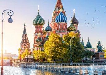 4 nap Moszkvában repülőjeggyel, reggelivel, helyi buszos közlekedéssel, idegenvezetéssel, kirándulásokkal