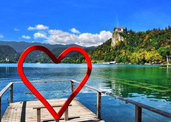 4 napos Valentin napi kirándulás Szlovéniában, 4-os szállással, reggelivel és 2 vacsorával, busszal