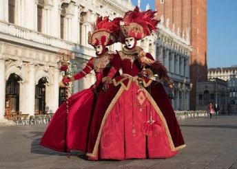 3 napos buszos utazás a velencei karnevál nyitó vagy záró hétvégéjére, reggelivel, 3*-os szállással