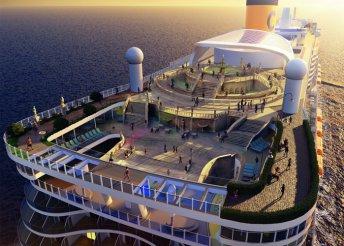 Földközi-tengeri hajókirándulás a Costa Smeralda fedélzetén, a hajón teljes ellátással