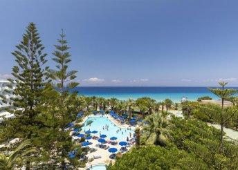 8 nap 2 főre Rodoszon, a Blue Horizon Hotelben**** félpanzióval, repülőjeggyel és illetékkel