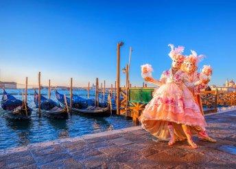 4 napos kirándulás a velencei karneválra buszos utazással, reggelivel, 1 éjszaka 3*-os szállással