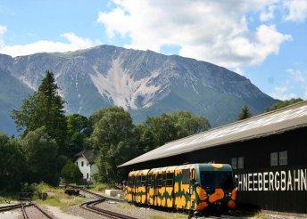 1 napos kirándulás a Bécsi-Alpokban, séta Schneeberg városkájában, buszos utazással