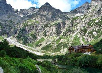1 napos kirándulás a Tátrában, túra a Zöld-tavi menedékházhoz, buszos utazással