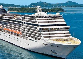 Földközi-tengeri hajóút az MSC Magnifica fedélzetén, kiutazással, a hajón teljes ellátással, idegenvezetéssel