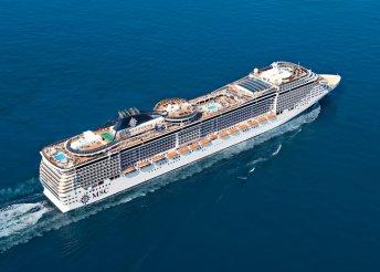Földközi-tengeri hajóút az MSC Fantasia fedélzetén, kiutazással, a hajón teljes ellátással, idegenvezetéssel