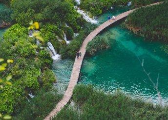 Kirándulás a Plitvicei Nemzeti Parkba és pihenés a Kvarner-öböl partvidékén, buszos utazással, reggelivel