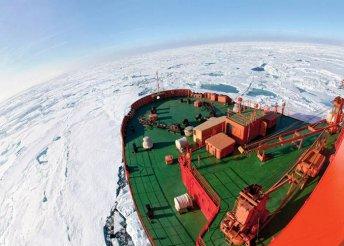 Utazás atomjégtörővel az Északi-sarkra, repülőjeggyel, illetékkel, a hajón teljes ellátással