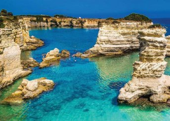 Kirándulás Puglia tartományban, az olasz csizma sarkában, buszos utazással, félpanzióval, programokkal