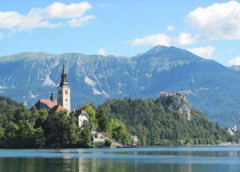 8 napos kirándulás Szlovéniában, a Bledi- és a Bohinji-tónál, valamint az Alpokban, busszal, reggelivel