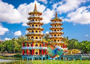 Körutazás Tajvanon tengerparti pihenéssel, repülőjeggyel, illetékkel, hajó- és vonatjeggyel, félpanzióval