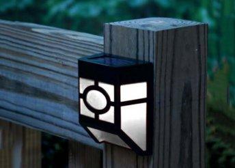 4db Kültéri szolár lámpa beépített napelemmel