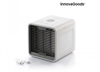 InnovaGoods Home Climate Freezy Cube hordozható mini párologtató légkondicionáló LED-del