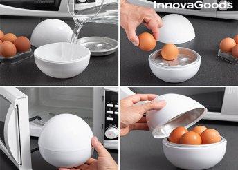 InnovaGoods Kitchen Boilegg Tojássütő Mikróba Recepttel