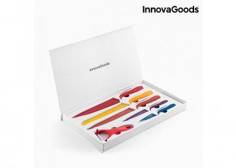 InnovaGoods Kitchen Cookware kerámia kés és hámozó készletet (6 darab)