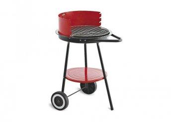 Szén barbecue kerekekkel Algon Fekete Piros (ø 43 cm)
