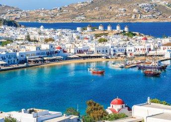 8 napos nyaralás 2 személyre, Míkonosz, Corfos 3*, reggelivel, repülőjeggyel, illetékkel