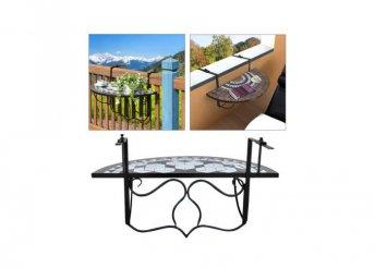Lehajtható balkon asztal, 2 színben