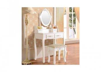 Tükrös fésülködő asztal székkel - Rome típus - fehér vag fekete