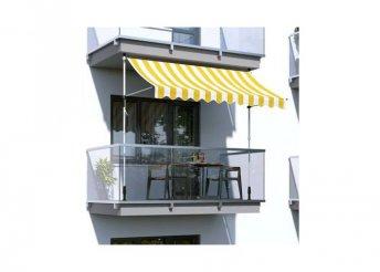 Feltekerhető napellenző - sárga csíkos - 250 x 120 cm