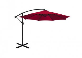 Függő napernyő, 2,7m - piros