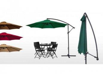 Függő napernyő, 2,7m - zöld