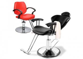 Fodrász szék állítható magassággal - piros