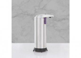 Automata szappanadagoló - 220 ml - álló - elemes - króm