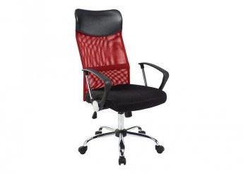 Ergonomikus irodai szék magasított háttámlával - piros