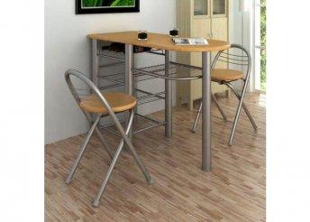 Konyhai bárszett 2 db székkel és asztallal