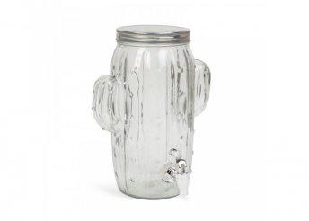 Italadagoló csappal, üveg - 'Kaktusz' - 3,6 l