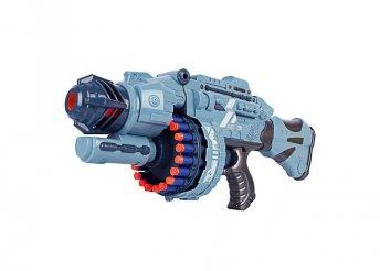 Játékfegyver hanggal, ajándék töltény szettel - szürke