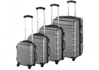 4 db-os merev falú bőrönd szett - szürke