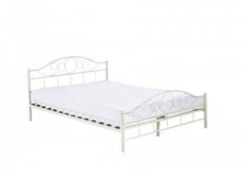 Fém ágykeret ajándék ágyráccsal - fehér - 160 x 200 cm