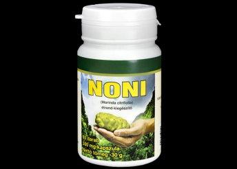 Noni étrend-kiegészítő kapszulák: Noni, Chili, Hialuronsav és Kollagén