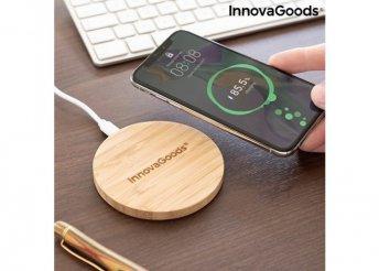 Bambusz vezeték nélküli töltő InnovaGoods