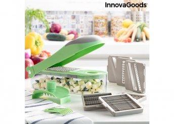 7 az 1-ben zöldségdaraboló, reszelő és mandolin receptekkel és kiegészítőkkel Choppie Expert InnovaG