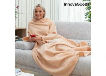 Egy ujjú takaró központi zsebével Faboulazy InnovaGoods - Beige